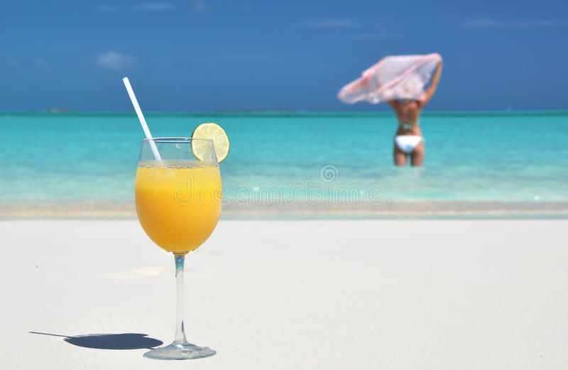 Exponeringsglas av orange fruktsaft royaltyfri foto
