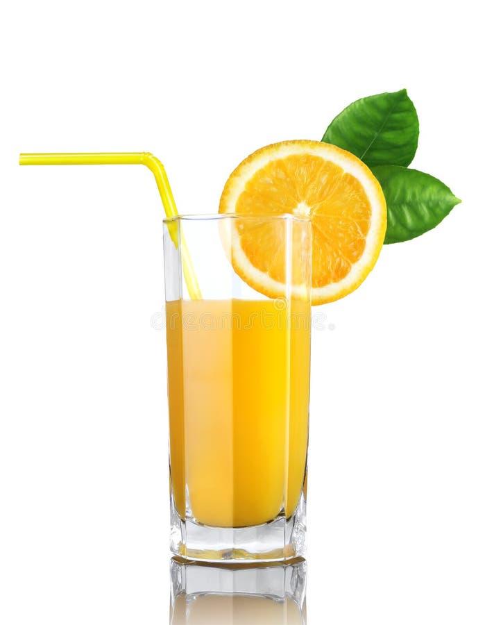 Exponeringsglas av orange fruktsaft royaltyfria foton