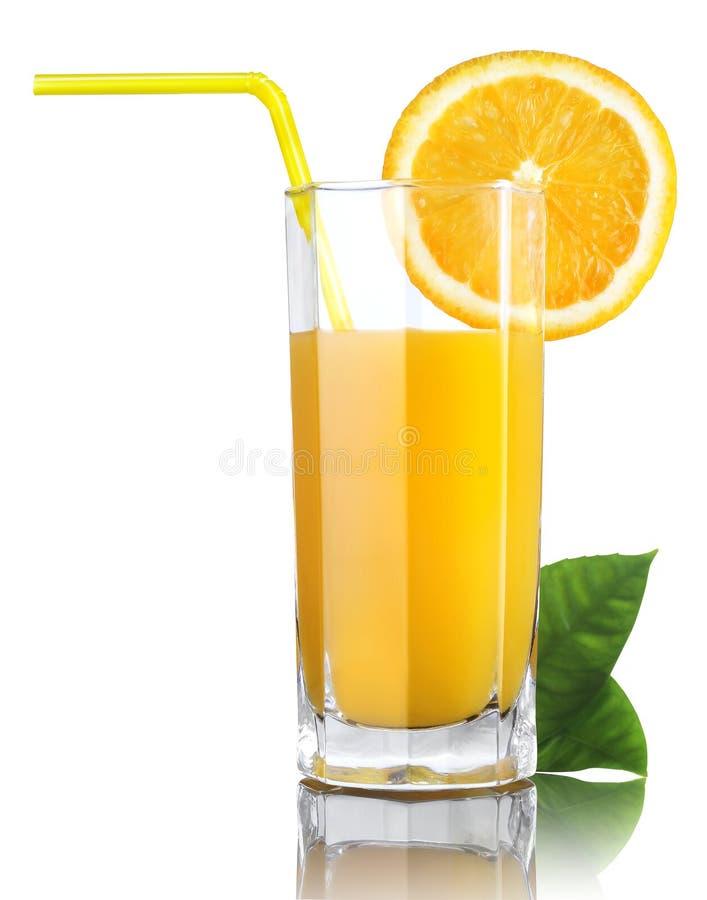 Exponeringsglas av orange fruktsaft royaltyfria bilder
