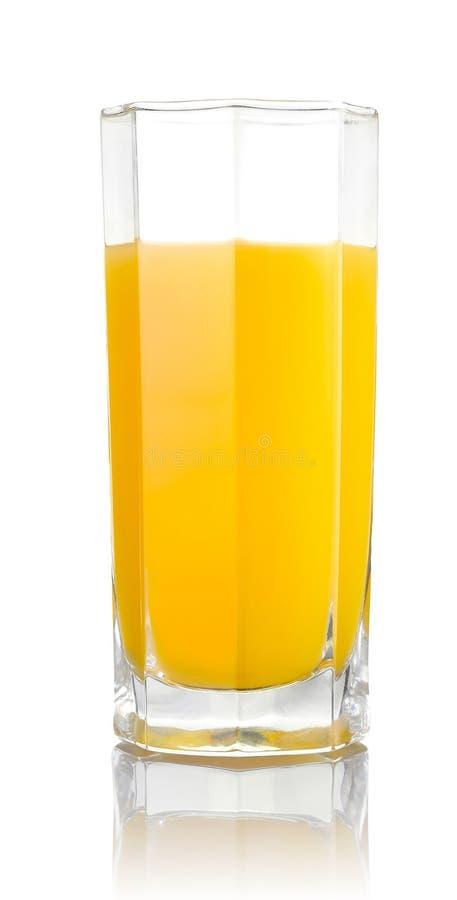 Exponeringsglas av orange fruktsaft arkivfoto
