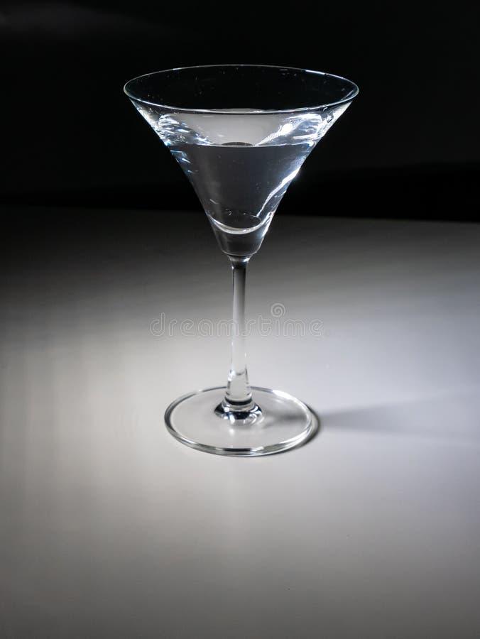 Exponeringsglas av vatten med lutningbakgrund arkivfoto