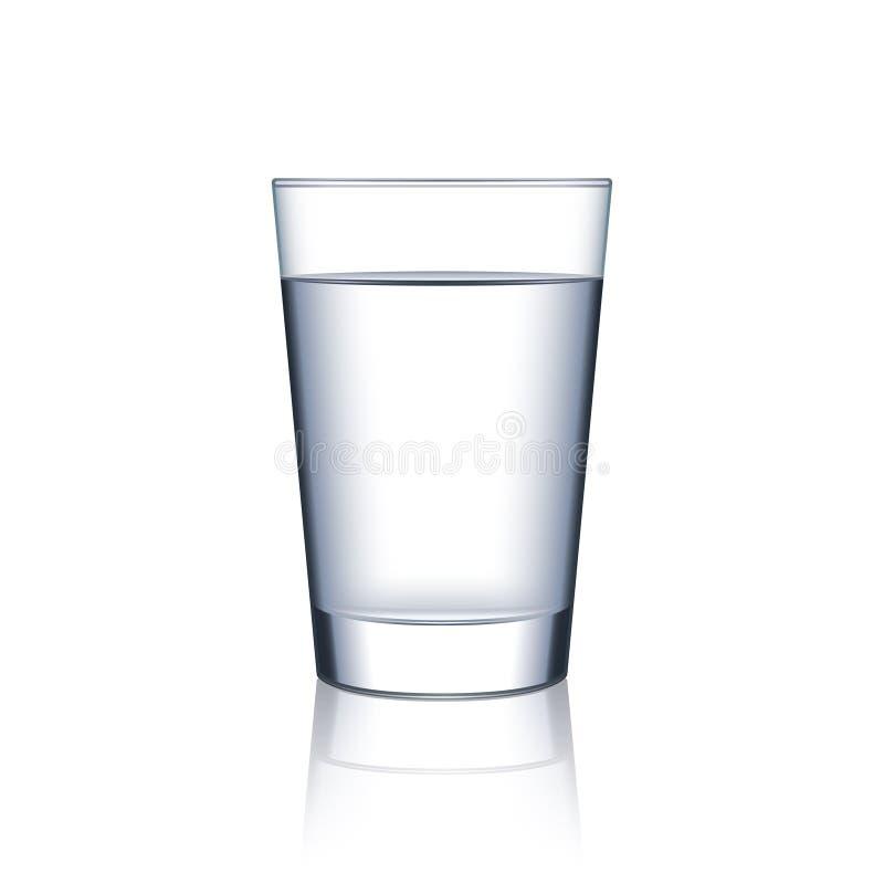 Exponeringsglas av vatten på den vita vektorn vektor illustrationer