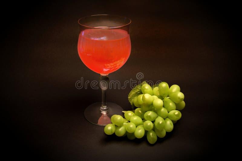 Exponeringsglas av vitt Zinfandel Kalifornien vin fotografering för bildbyråer