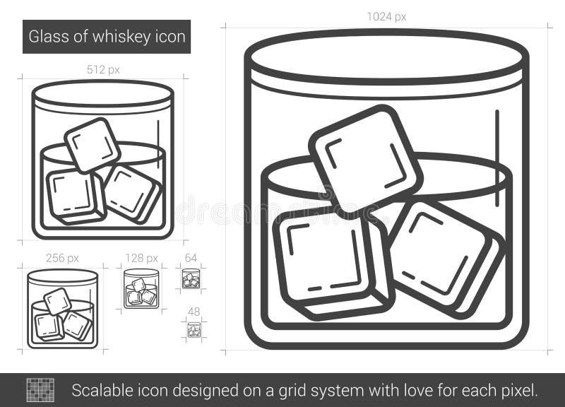 Exponeringsglas av whiskylinjen symbol vektor illustrationer