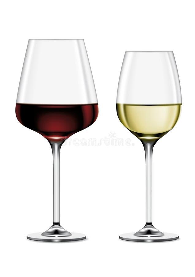 Exponeringsglas av Wine vektor illustrationer