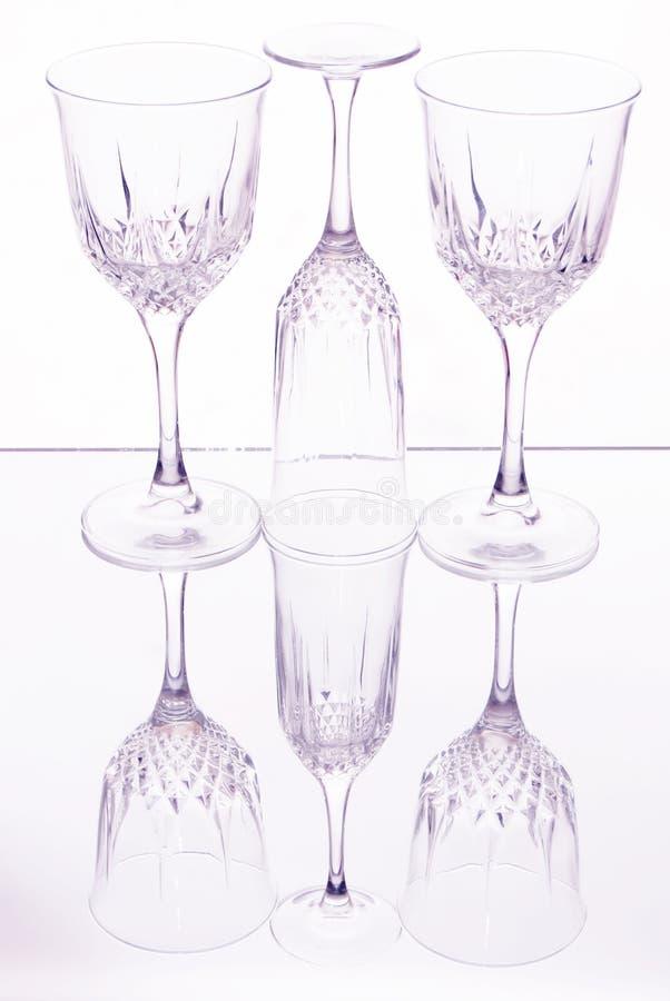 Exponeringsglas av wine royaltyfri bild