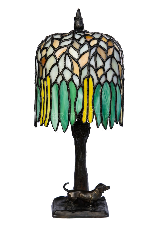 exponeringsglas befläckt isolerad lampa arkivbilder