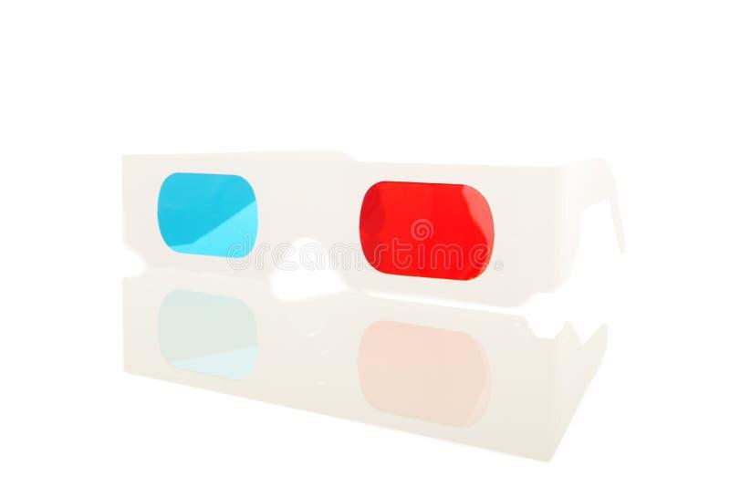 exponeringsglas 3D i blått och rött royaltyfri bild
