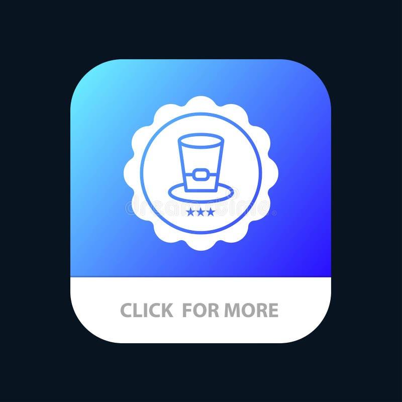Exponeringsglas drink, tecken, mobil Appknapp för USA Android och IOS-skåraversion royaltyfri illustrationer