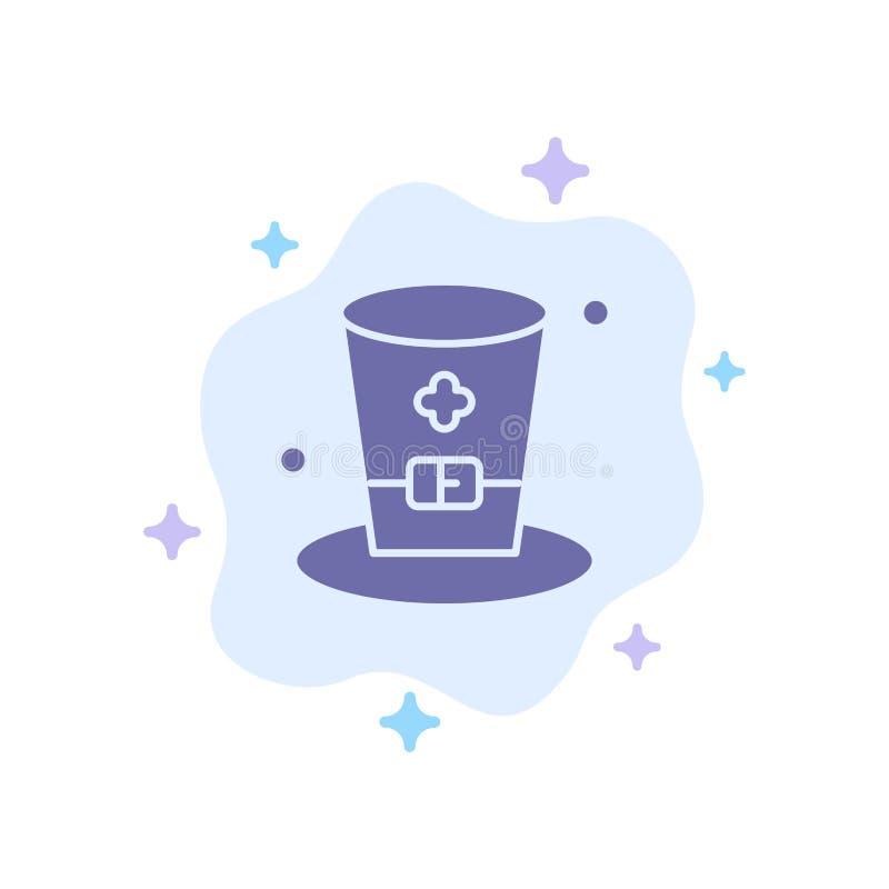 Exponeringsglas drink, vin, Irland blå symbol på abstrakt molnbakgrund royaltyfri illustrationer