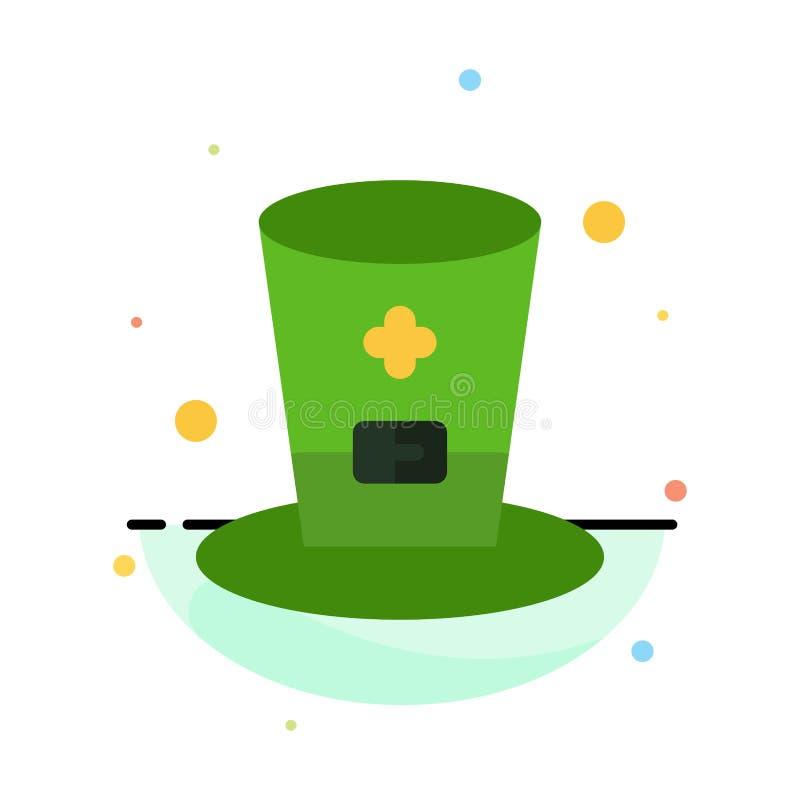 Exponeringsglas drink, vin, mall för Irland abstrakt plan färgsymbol stock illustrationer