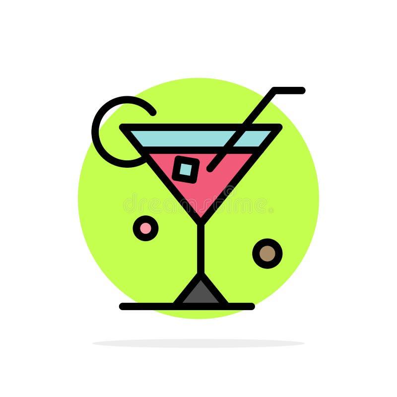 Exponeringsglas drink, vin, symbol för färg för bakgrund för vårabstrakt begreppcirkel plan royaltyfri illustrationer
