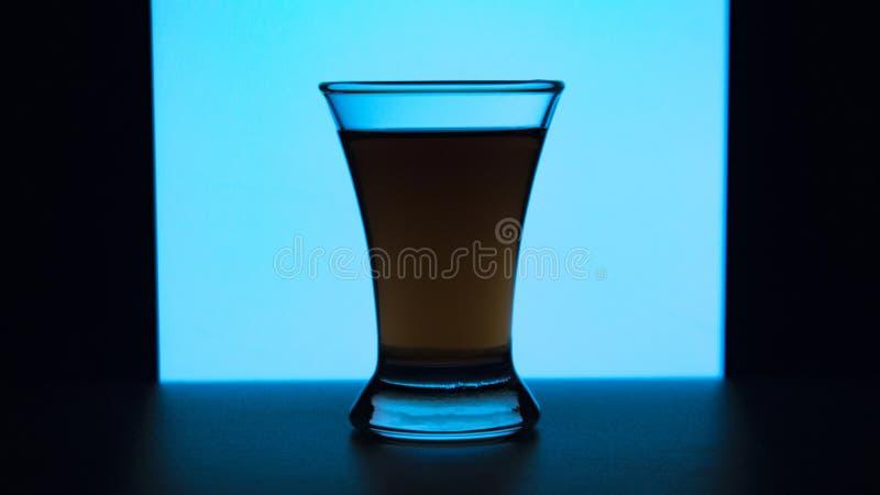 Exponeringsglas eller stemware med alkoholvin, whisky, gin, öl, rom, vodka, skotsk whisky, konjak, starksprit, konjak, absint ell royaltyfri fotografi