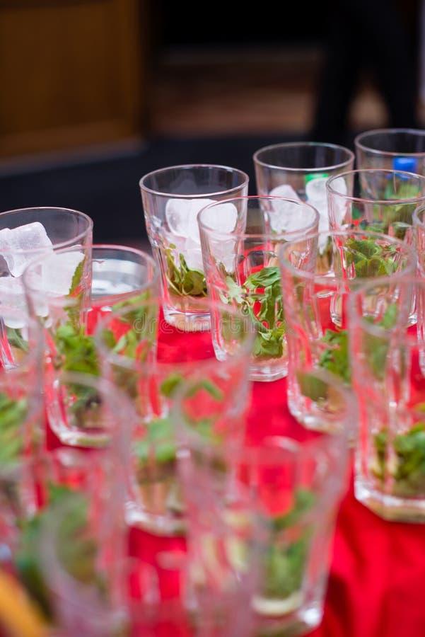Exponeringsglas för mojito royaltyfria foton