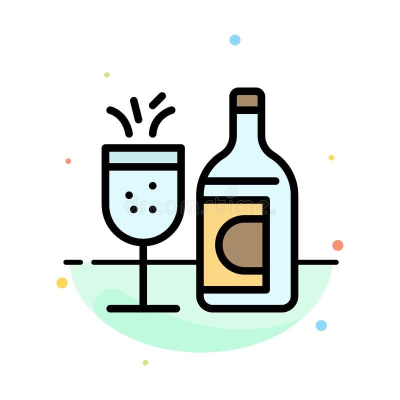 Exponeringsglas flaska, påsk, för färgsymbol för drink abstrakt plan mall vektor illustrationer