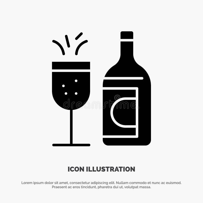 Exponeringsglas flaska, påsk, för skårasymbol för drink fast vektor stock illustrationer