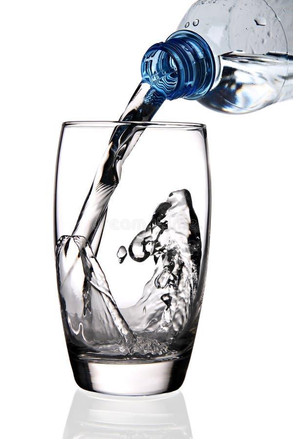 exponeringsglas hällt vatten arkivfoton