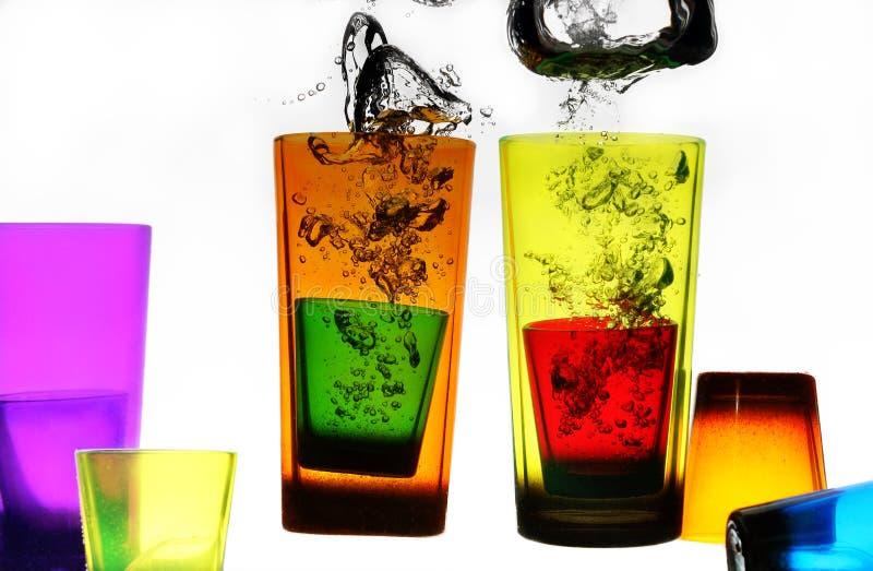 exponeringsglas i vatten arkivfoto
