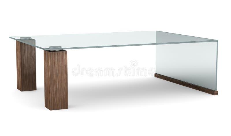 exponeringsglas isolerad modern tabellwhite stock illustrationer