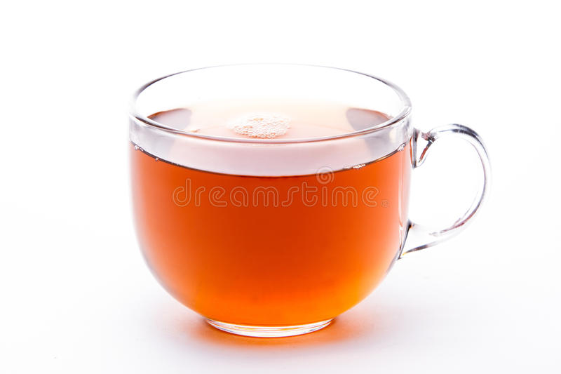 Exponeringsglas kuper av tea royaltyfri fotografi