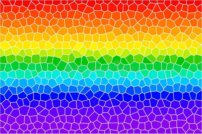 exponeringsglas lines den befläckte regnbågen vektor illustrationer
