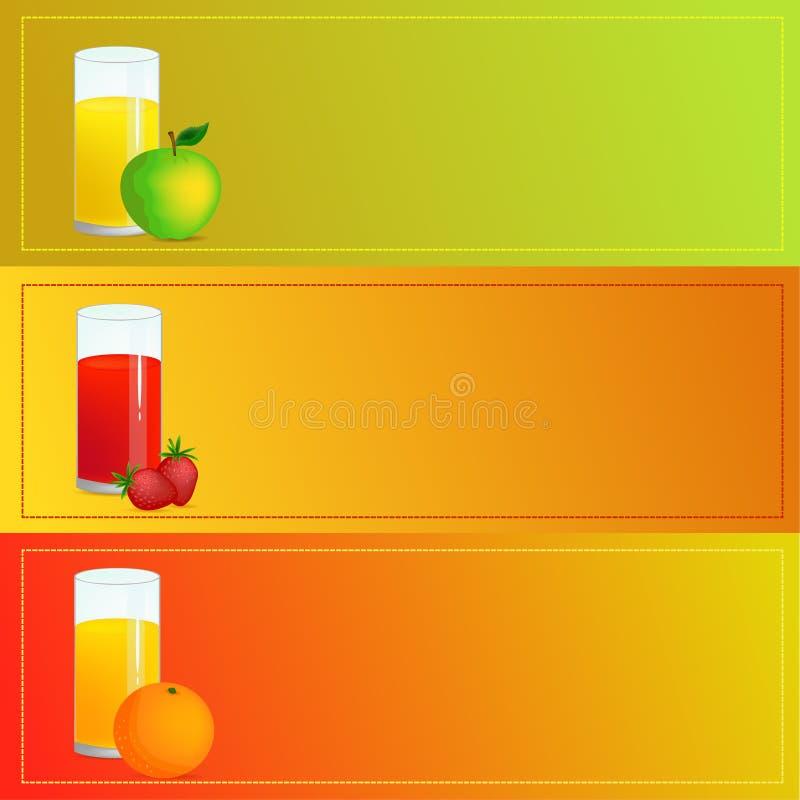 Exponeringsglas med fruktsafter arkivfoto