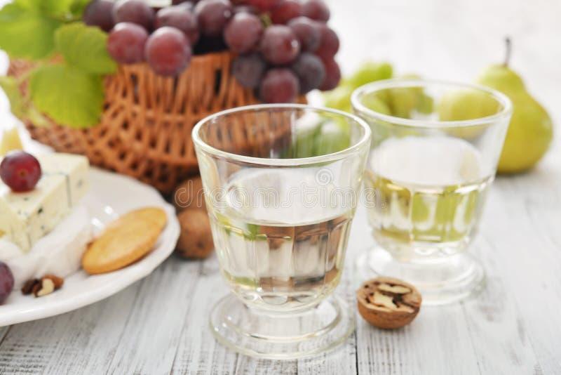 Exponeringsglas med wine arkivfoto