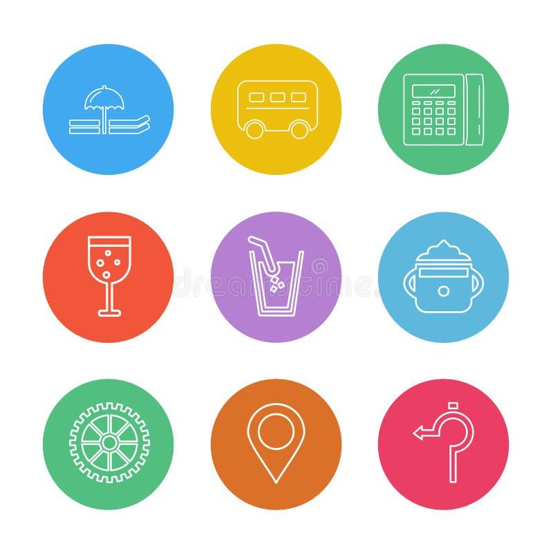 exponeringsglas navigering, räknemaskin, multimedia, kamera, användare int royaltyfri illustrationer