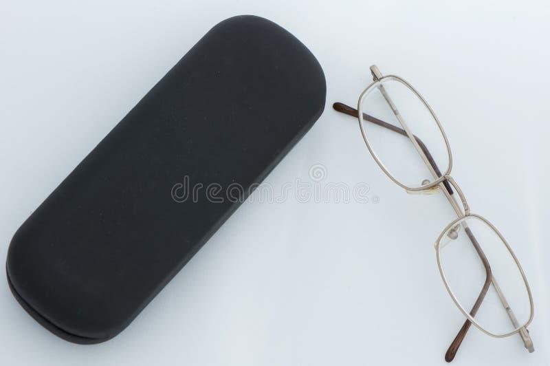 Exponeringsglas och svart fall fotografering för bildbyråer