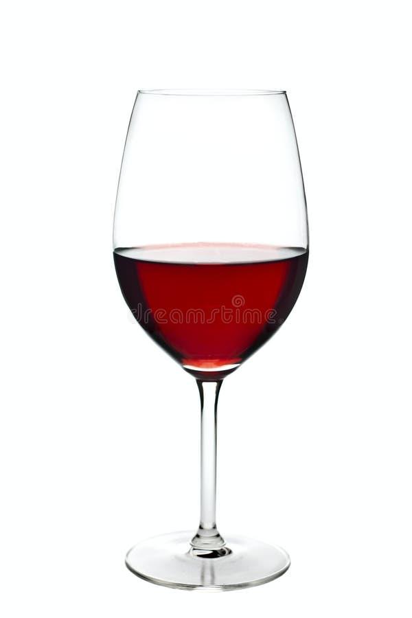 exponeringsglas som isoleras över vit wine arkivbild