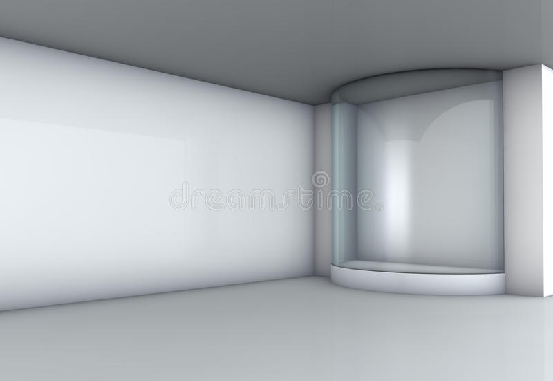 Exponeringsglas ställer ut i gallerit vektor illustrationer