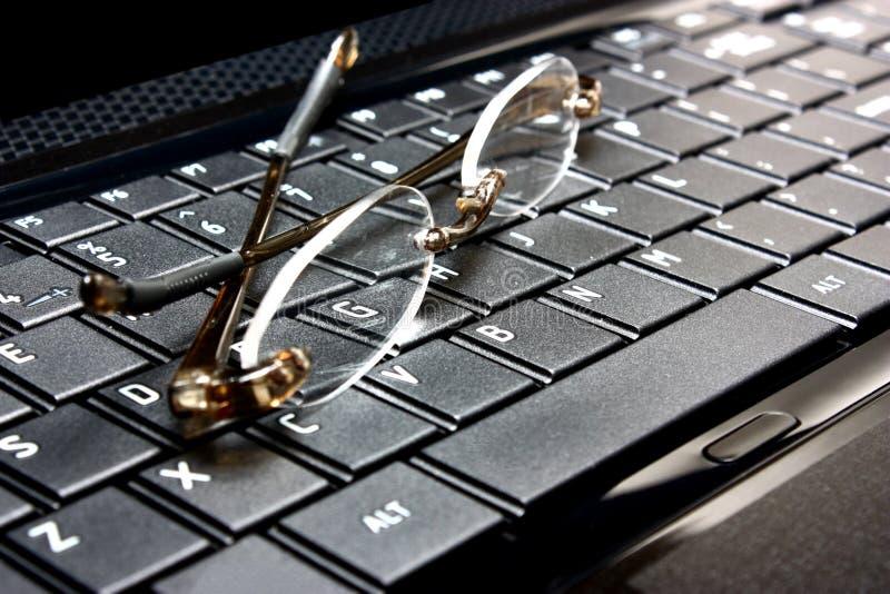 exponeringsglasbärbar dator royaltyfria foton