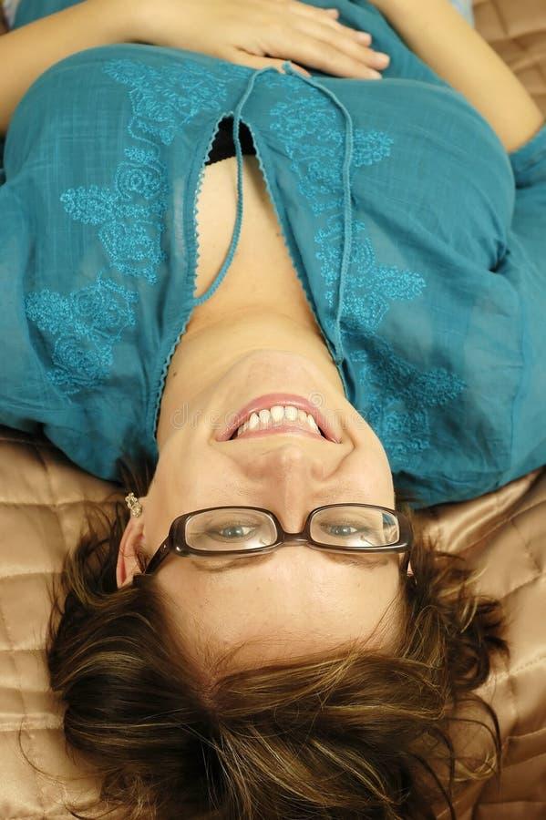 Download Exponeringsglaskvinna fotografering för bildbyråer. Bild av flicka - 249931