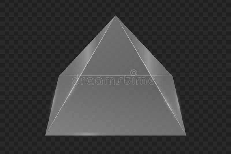 Exponeringsglasprismapyramid royaltyfri illustrationer