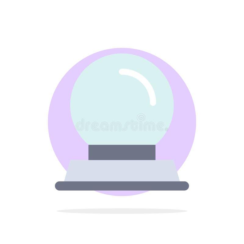 Exponeringsglasställning, garnering, symbol för färg för magisk bakgrund för bollabstrakt begreppcirkel plan stock illustrationer