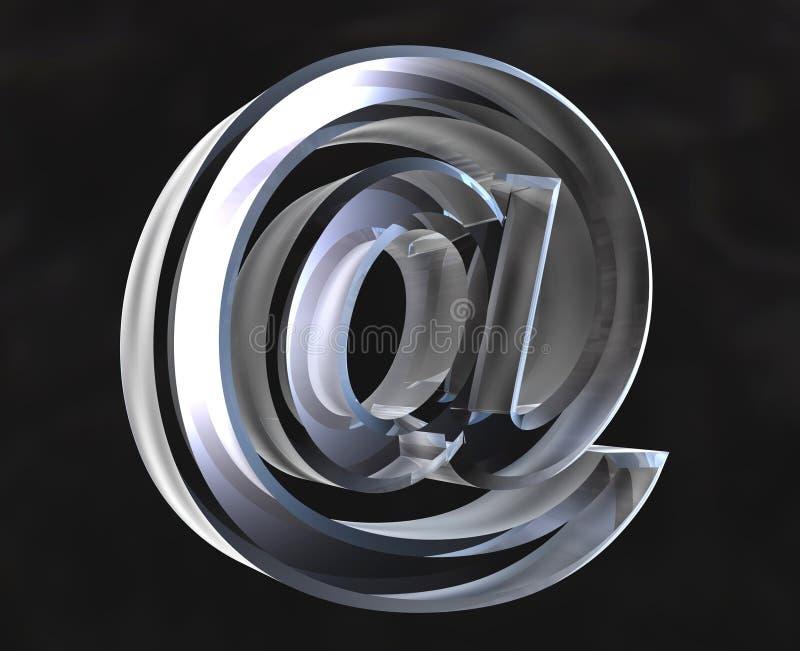 exponeringsglassymbol för e-post 3d royaltyfri illustrationer