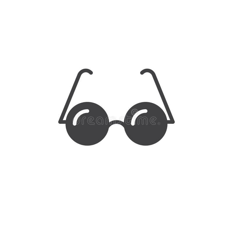 Exponeringsglassymbolsvektor, fast logo, pictogram som isoleras på vit, pi royaltyfri illustrationer