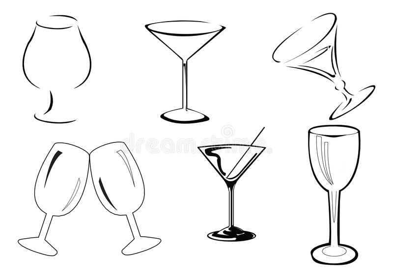 exponeringsglasvektorwine stock illustrationer
