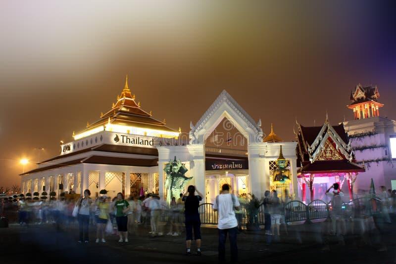 expopaviljongshanghai thailand värld arkivfoto