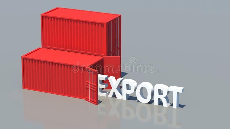 export royaltyfri bild