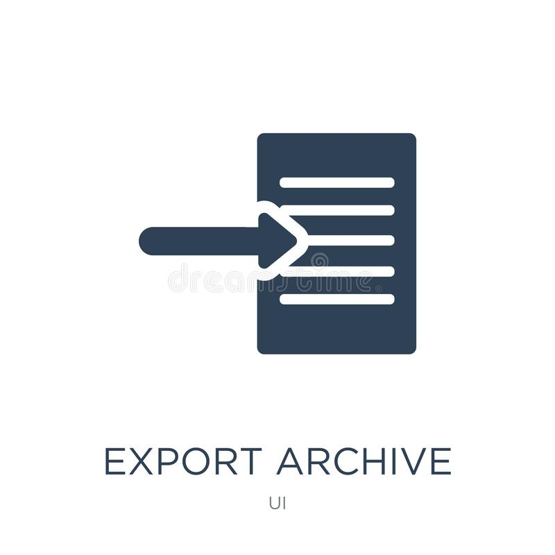 export archive icon in trendy design style. export archive icon isolated on white background. export archive vector icon simple vector illustration