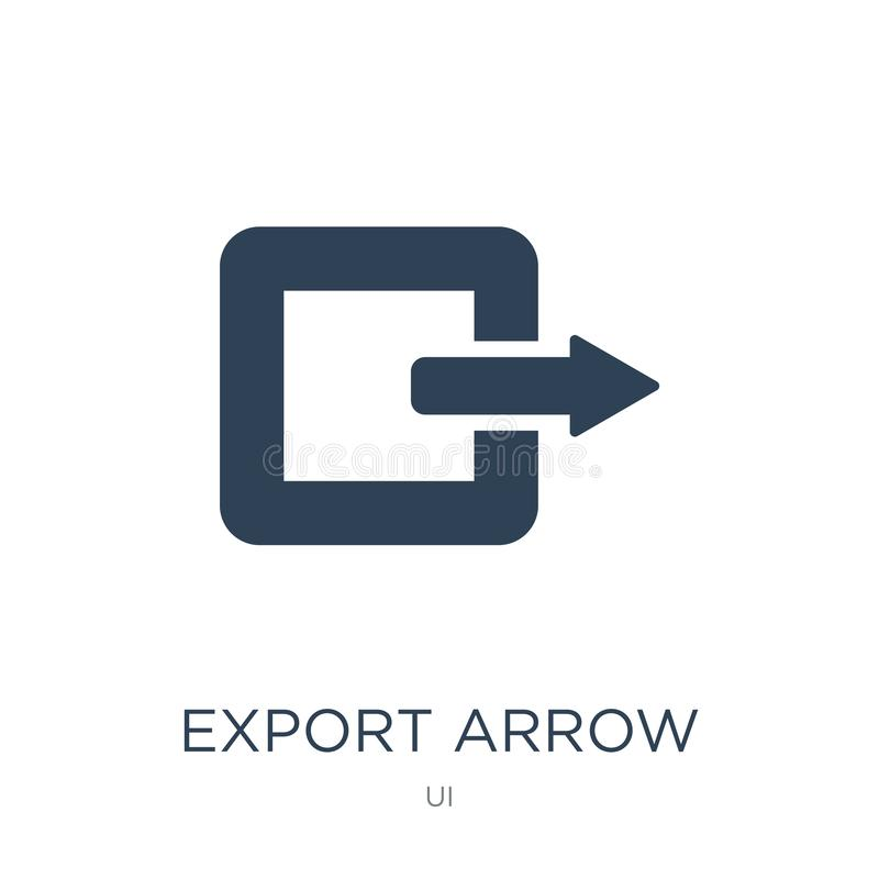 export arrow icon in trendy design style. export arrow icon isolated on white background. export arrow vector icon simple and vector illustration