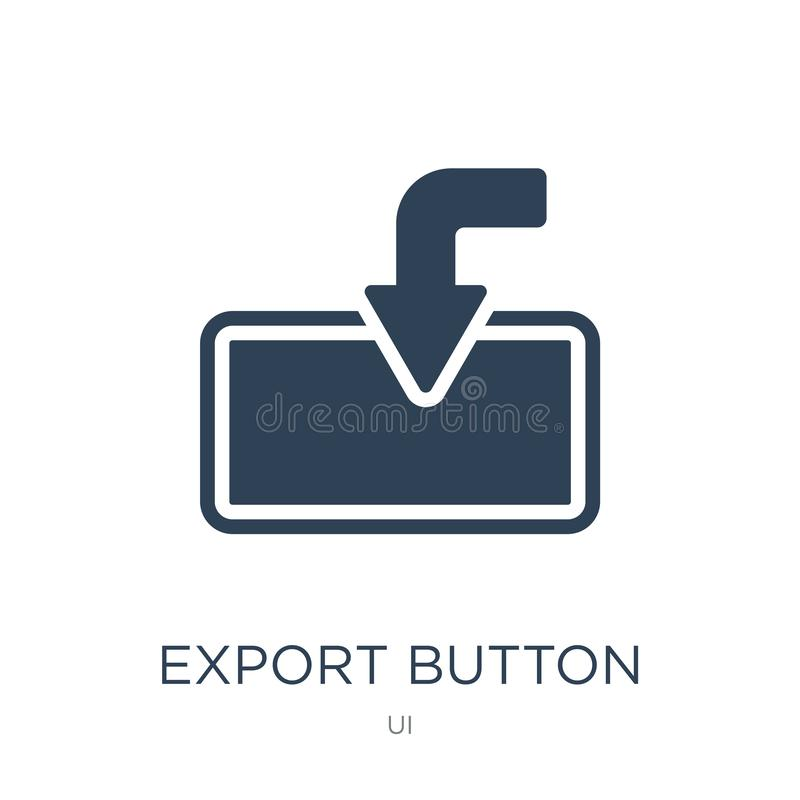 export button icon in trendy design style. export button icon isolated on white background. export button vector icon simple and stock illustration