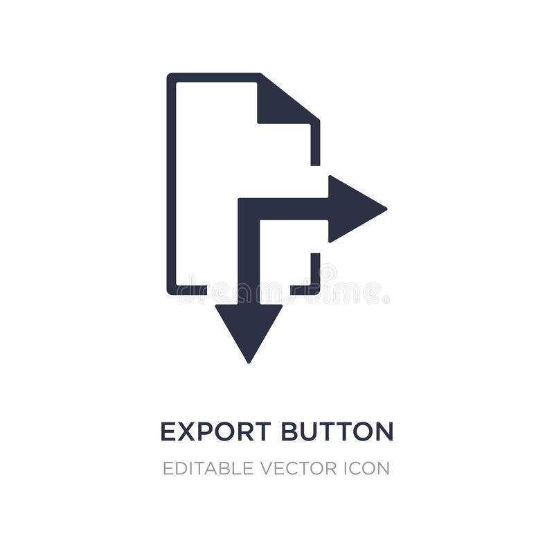 export button icon on white background. Simple element illustration from UI concept royalty free illustration