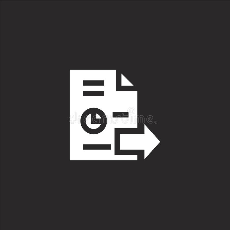 export icon. Filled export icon for website design and mobile, app development. export icon from filled big data collection vector illustration
