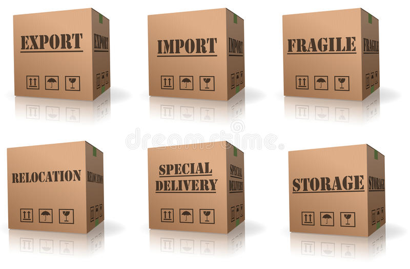 Export import shipping relocation cardboard box