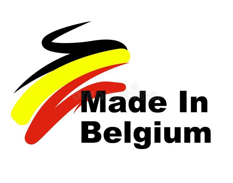 Exportação das mostras da fabricação de Bélgica industrial e importação ilustração royalty free