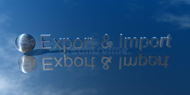 Exportação e importação ilustração stock