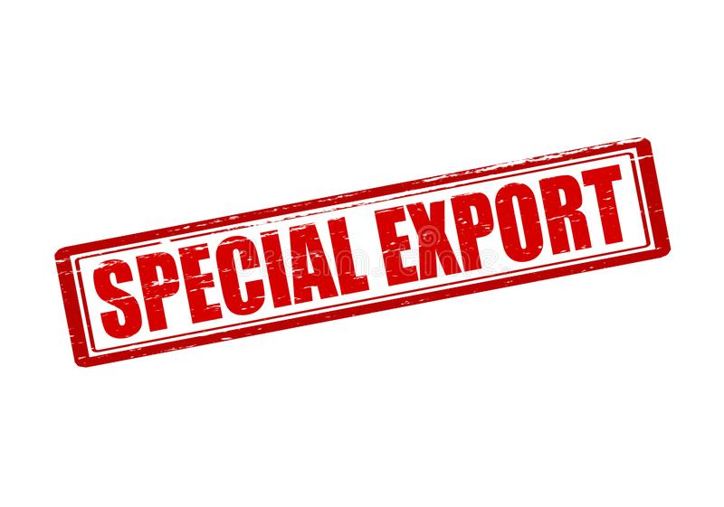 Exportação especial ilustração royalty free