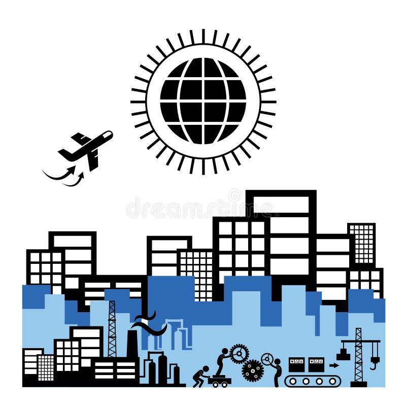 Exportação industrial e da logística ilustração stock